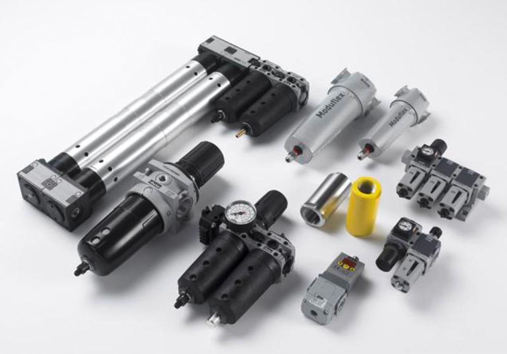 Komponenten für die Aufbereitung und Regelung von Druckluft