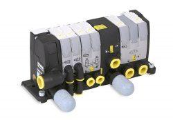 Die Baureihe Parker Moduflex besteht aus luftvorgesteuerten, verblockbaren Pneumatikwegeventilen mit den Funktionen 4/2-, 3/2- und Doppel-3/2