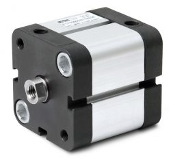 Doppeltwirkender Kompaktzylinder der Parker Baureihe P1P nach ISO 21287. Lieferbar in Durchmessern von 32 bis 63 mm. Optimal geeignet für Anwendungen mit geringem Einbauraum.
