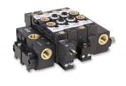 Blockbare Flachventile der Baureihe PVL von Parker bieten bei kompakter Bauweise einen großen Durchfluss
